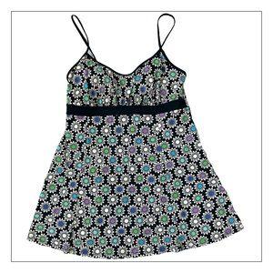 A Shore Fit Plus Size Flowered Bathing Suit Dress